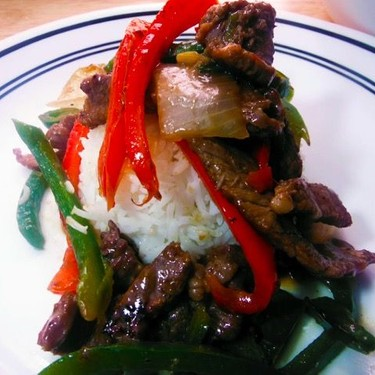 Chinese Pepper Steak with Onions Recipe   SideChef