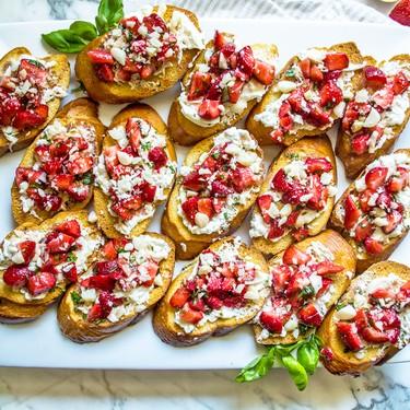 Strawberry Burrata Bruschetta with Balsamic Reduction Recipe | SideChef