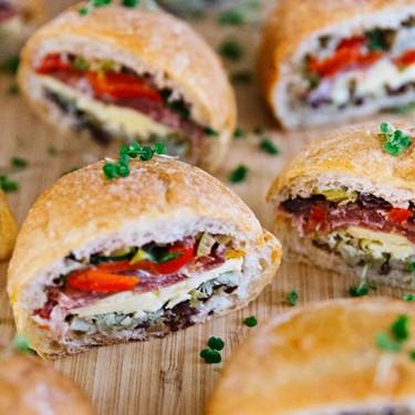Mini Coppa and Mozzarella Muffalettas Recipe | SideChef