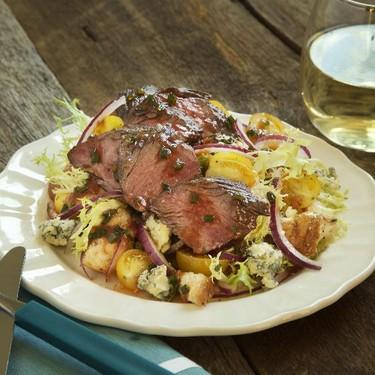 Pan Roasted Hanger Steak with Tomato Panzanella Recipe   SideChef