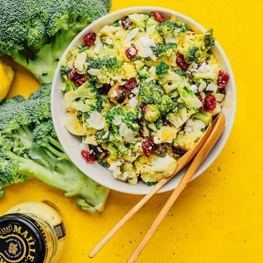 Grilled Broccoli Salad with Honey Mustard Dressing Recipe   SideChef