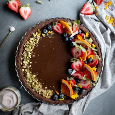 Cardamom and Coffee Chocolate Tart Recipe | SideChef