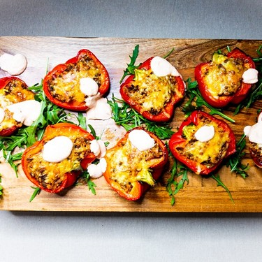 Roasted Spiced Stuffed Peppers Recipe | SideChef