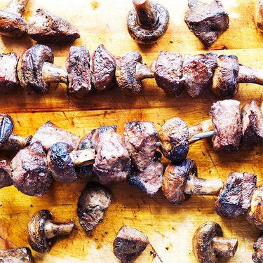 Grilled Steak and Mushroom Kabobs Recipe   SideChef