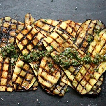 Grilled Eggplant with Sumac, Capers, and Mint Recipe   SideChef