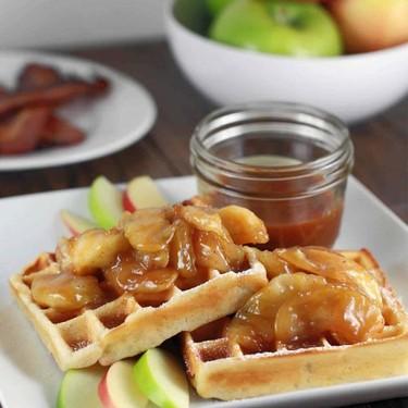 Gluten-Free Salted Caramel Apple Waffles Recipe | SideChef