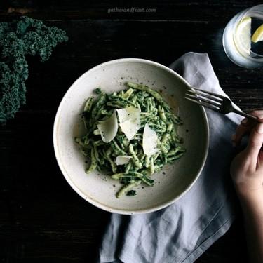 Kale & Basil Pesto with Pasta Recipe | SideChef