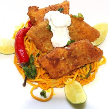 Fried Fish Dabbawalla (Ocean Perch and Curried Noodles) Recipe | SideChef
