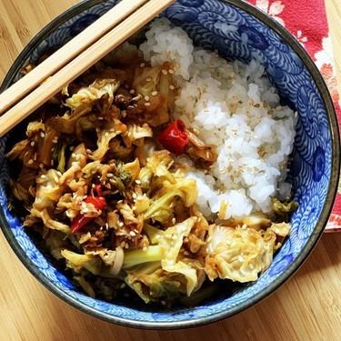 Vegan Low-Carb Stir-Fried Spicy Cabbage Recipe | SideChef