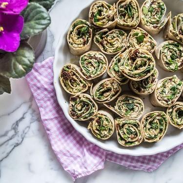 Vegan Basil Pesto and Sun-Dried Tomato Pinwheels Recipe | SideChef