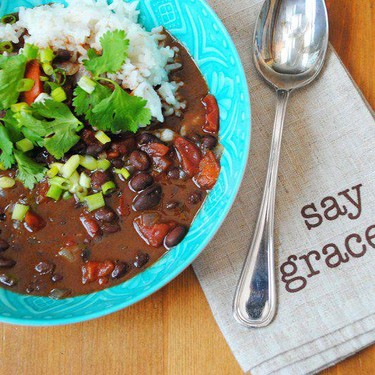 Black Bean Soup with Coconut Rice Recipe   SideChef