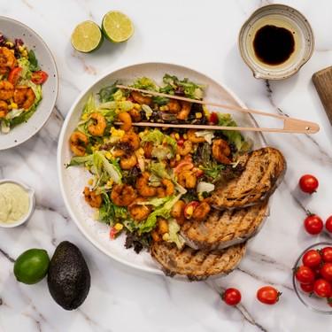 Creamy Cajun Grilled Shrimp Salad Recipe | SideChef