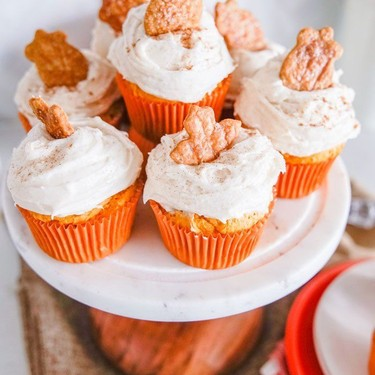 Vegan Pumpkin Cupcakes with Pumpkin Spice Frosting Recipe   SideChef