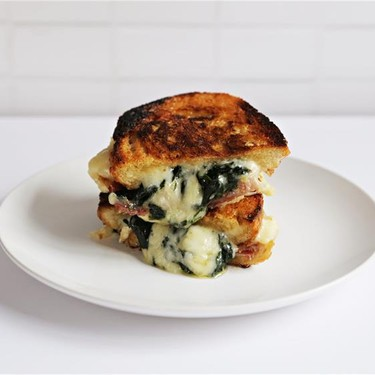 Jenny's Spinach & Pancetta Grilled Cheese Recipe | SideChef