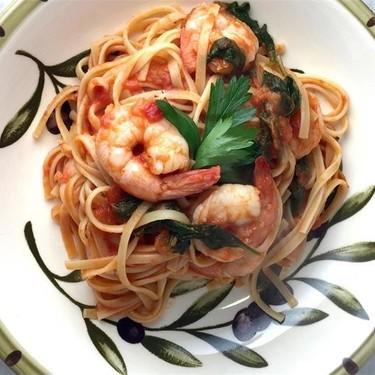 Shrimp, Spinach & Vodka Sauce Linguine Recipe | SideChef