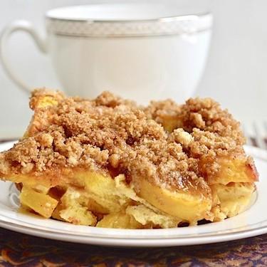 Peach Cobbler French Toast Bake Recipe | SideChef