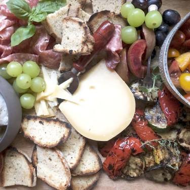 Marinated Tomato & Grilled Veggie Cheese Board Recipe   SideChef