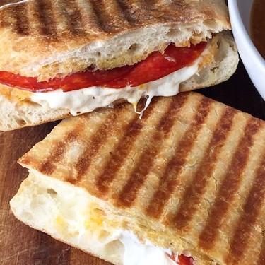 Mozzarella & Pepperoni Panini Recipe | SideChef
