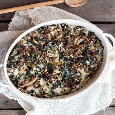 Kale and Wild Rice Casserole Recipe | SideChef
