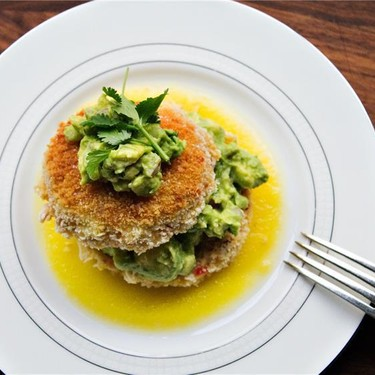 """Crab and Avocado """"Sandwiches"""" with Mango Coulis Recipe   SideChef"""