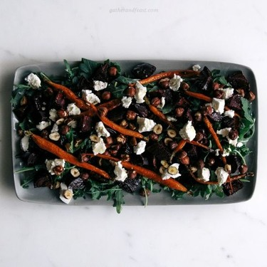 Roasted Beetroot & Carrot Salad with Chèvre Recipe   SideChef