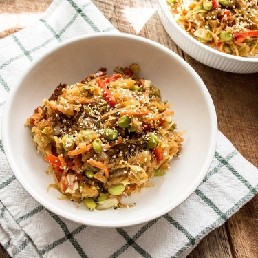Spaghetti Squash Veggie Teriyaki Bowl Recipe   SideChef