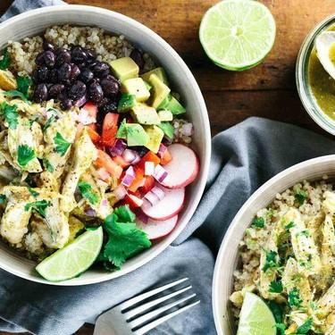 Chicken Tomatillo Quinoa Bowls Recipe   SideChef