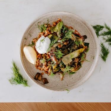 Veg Bowl with Mushrooms, Leeks, and Farro Recipe | SideChef