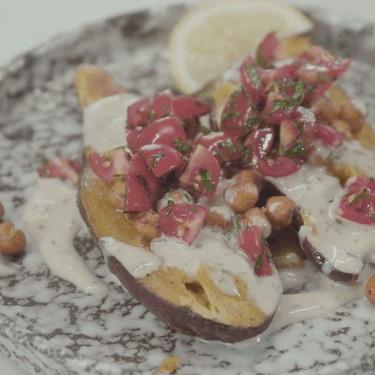 Baked Sweet Potato with Tahini Drizzle Recipe | SideChef