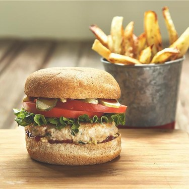 Turkey Burgers with Oven Baked Herb Fries Recipe | SideChef
