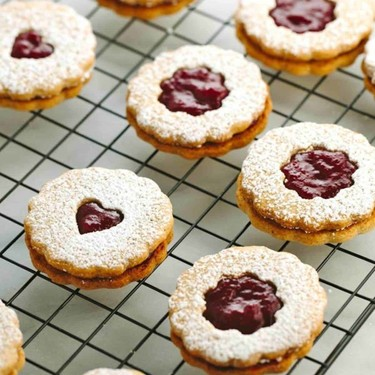 Cranberry Orange Linzer Cookies Recipe   SideChef