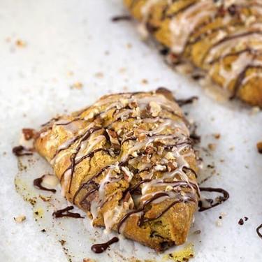 Chocolate Pumpkin Pecan Scones Recipe | SideChef