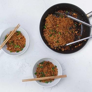 Pork and Peanut Dragon Noodles Recipe | SideChef