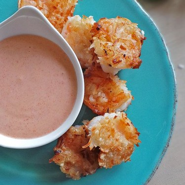 Coconut Shrimp with Red Curry Sauce Recipe | SideChef