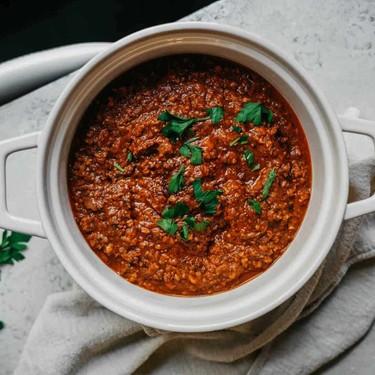 "The Best ""Meat"" Sauce for Vegan Spaghetti Recipe | SideChef"