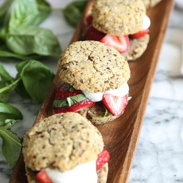 Gluten-Free Strawberry Basil Shortcakes Recipe | SideChef