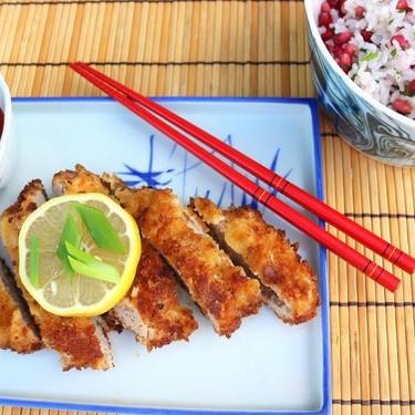Tonkatsu with Cilantro-Pomegranate Rice Recipe   SideChef