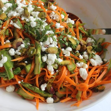 Shaved Carrot and Asparagus Salad Recipe | SideChef