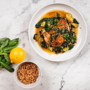 Chicken, Squash, Kale and Farro Recipe | SideChef