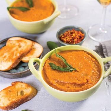 Vegan Pumpkin Sage Soup Recipe | SideChef