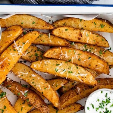 Baked Potato Wedges with Dipping Sauce Recipe   SideChef