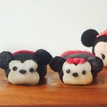 Mickey and Minnie Tsum Tsum Dark Chocolate Truffle Snowskin Mooncake Recipe | SideChef