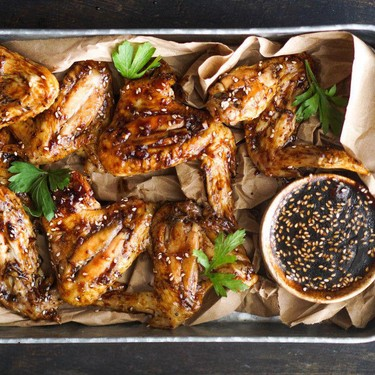 Baked Teriyaki Chicken Wings Recipe   SideChef