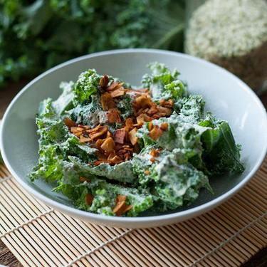 Vegan Kale Caesar Salad Recipe   SideChef