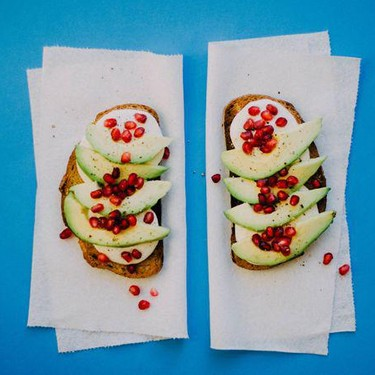 Avocado Pomegranate Toast Recipe | SideChef