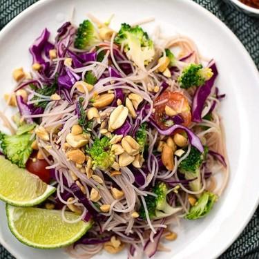 Asian Broccoli Vermicelli Salad Recipe | SideChef