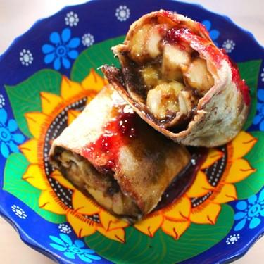 Caramelized Banana and Chocolate Burrito with Strawberry Preserve Recipe   SideChef