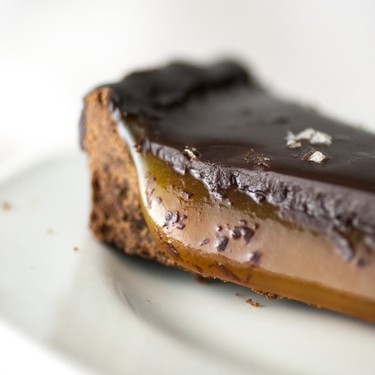 Vegan Salted Caramel Chocolate Tart Recipe   SideChef