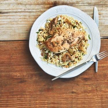 Chicken Saute with Artichokes, Lemon, and Orzo Recipe | SideChef