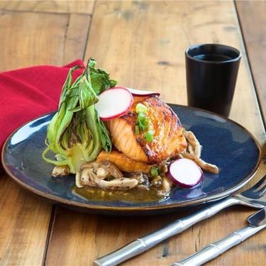 "Salmon ""Bulgogi"" with Baby Bok Choy and Mushrooms Recipe | SideChef"